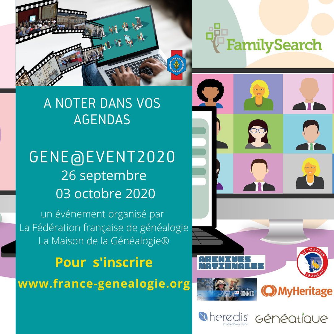 Inscription GeneEvent